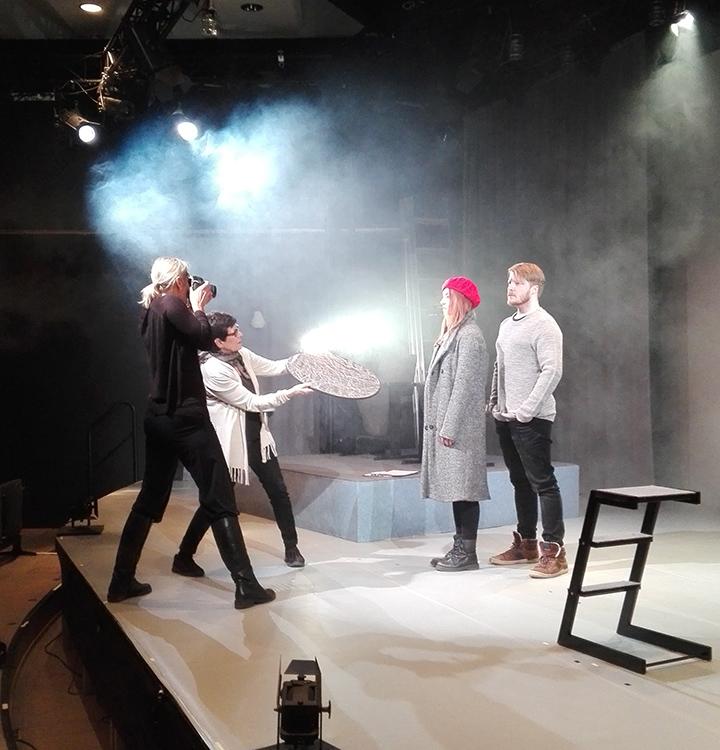 Kuva Erottaja 1917-1918 -näytelmän promokuvauksista