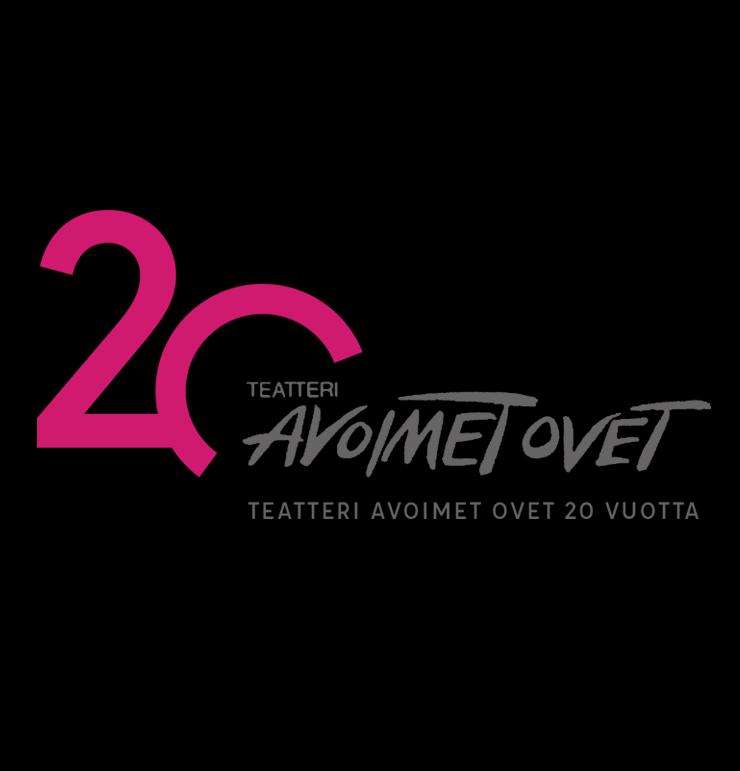 Teatteri Avoimien Ovien 20-vuotisjuhlavuoden logo